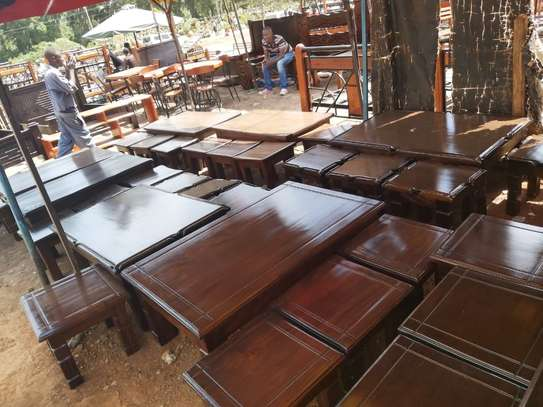Solid Mahogany Coffee tables and stools image 1