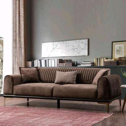 Brown three seater tufted sofa/Unique sofa designs/sofas for sale in Nairobi Kenya image 1