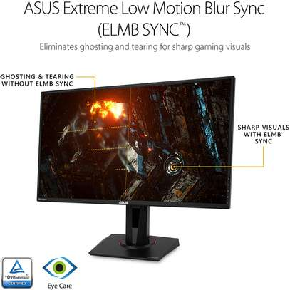 """Asus TUF Gaming VG27AQ 27"""" Monitor, 1440P WQHD (2560 x 1440), IPS, 165Hz (Supports 144Hz), G-SYNC Compatible, 1ms, Extreme Low Motion Blur Sync, Eye Care, DisplayPort HDMI image 3"""