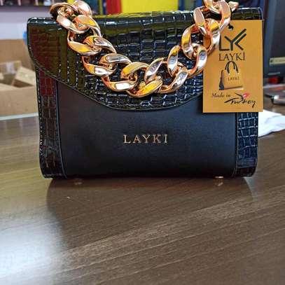 Black designer turkey sling bags image 1