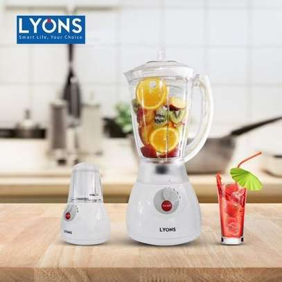 Lyons 2 In 1 Blender With Grinder - 1.5L- White image 1