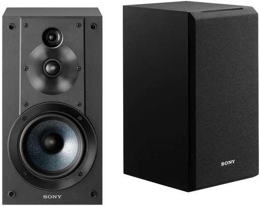 Sony SSCS5 3-Way 3-Driver Bookshelf Speaker System (Pair) - Black image 1