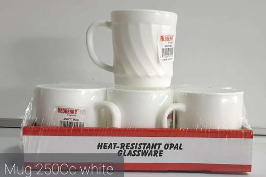 6pc Redberry Mugs - White image 1