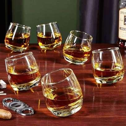 Rocking Whiskey  Glasses, Set of 6 image 1