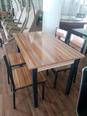 Wooden 4 seater dining table image 1