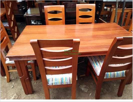Mahogany dining table image 1