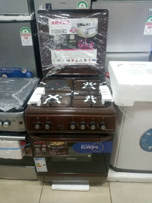 Armco 3 gas burner + 1 hot plate free standing cooker (Available in black, silver and brown) image 1