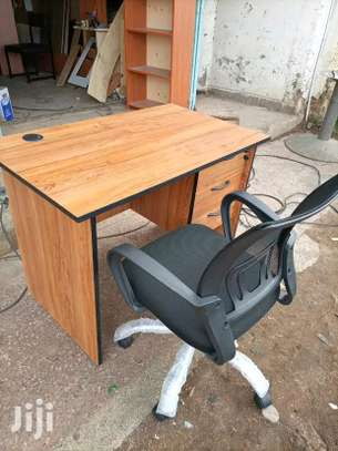 Laptop office desk plus an imported office chair in black image 1