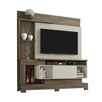 """TV Wall Unit Rack ( Notavel Madri 57053 ) - TV space up to 50 """" - Cinnamon / Sand image 1"""