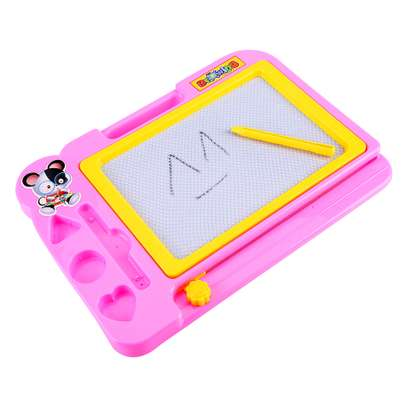 Kids Pink, Blue Writing Magnetic Drawing Board image 3