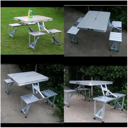 Aluminium picnic table image 1