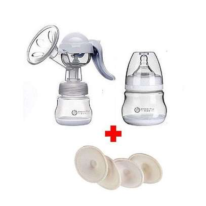 Baby Manual Breast Pump + Washable Breast Pads image 1