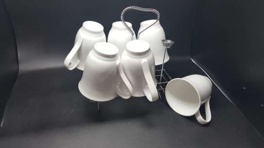 6 Pc Oxford Porcelain Coffee image 3
