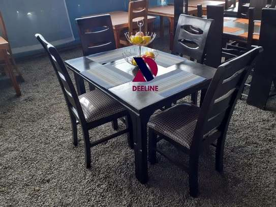 Black 4 Seater Dining Table sets image 2