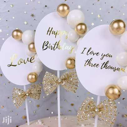 Classy Happy Birthday Toppers image 1