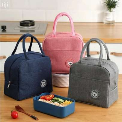 Women Men Kid Work School Picnic Lunch Food Insulated Bag image 1