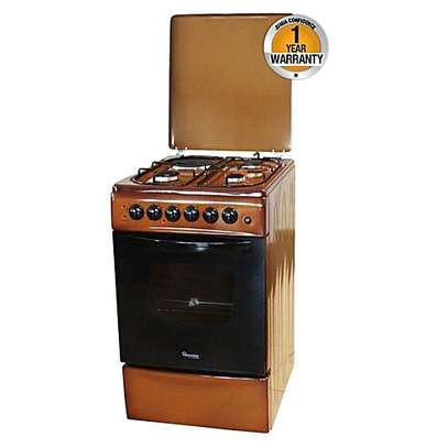 Ramtons Gas Cooker (4 gas, brown)