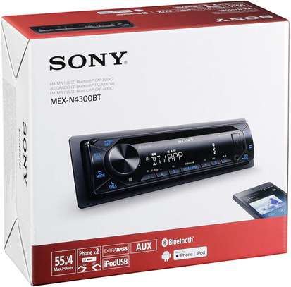 Sony MEX-N4300BT Built-in Dual Bluetooth Voice Command CD/MP3 AM/FM Radio Front USB AUX Pandora Spotify iHeartRadio iPod / iPhone Siri and Android Controls Car Stereo Receiver image 2