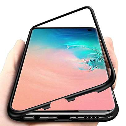 Magnetic Luxury Cases For Samsung S10 S10e S10 Plus With Tempered Back Glass image 1