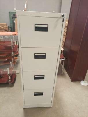 4 Drawer Metallic Cabinet image 1