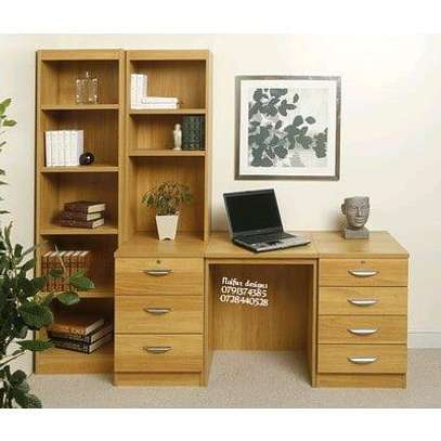 Office desk and cabinet image 1