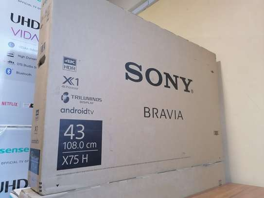 43 Inch sony smart android 4k uhd X7500h tv image 2