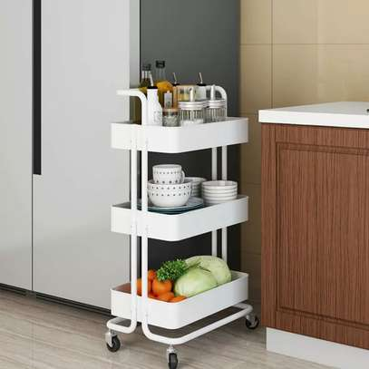 3 tier Metallic movable Trolley image 3