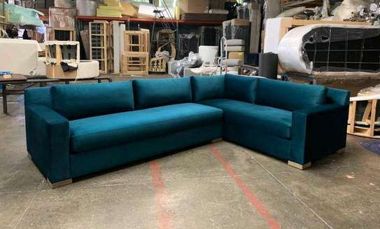 Five seater blue sofas for sale in Nairobi Kenya/Modern sofas and couches manufacturers in Nairobi Kenya image 1