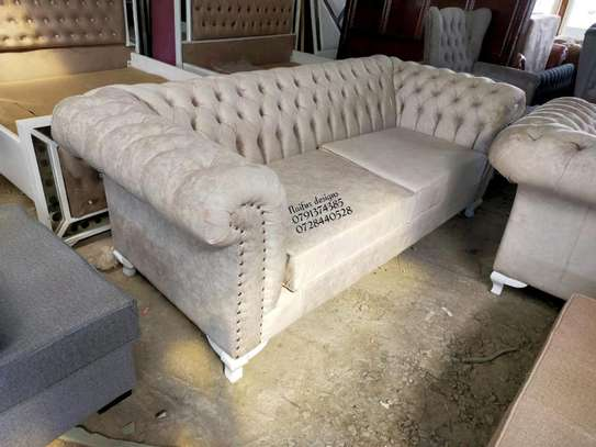 Three seater sofa/beige sofas image 1