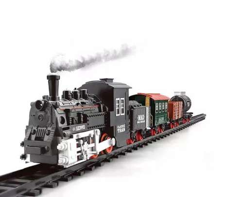 Classical Railway King  Battery Operated Locomotive Passenger Train Set Toy image 1
