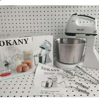 Sokany Hand Mixer With Bowl Black And White image 1