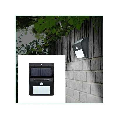 LED Solar Power PIR Motion Sensor Wall Light Outdoor Waterproof Garden Lamp,get one LED bulb 3W-white image 1