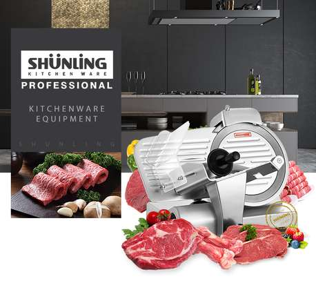 mini domestic semi-automatic 250es-10 meat slicer image 1