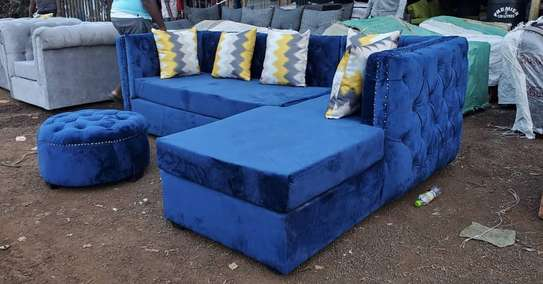 L shape 6seater Chesterfield image 1