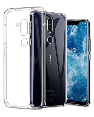 Clear TPU Soft Transparent case for Nokia 8.1 image 1