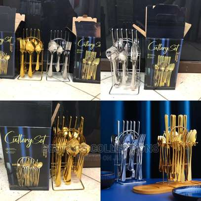 High Quality Stainless Steel Cutlery 24pcs image 1