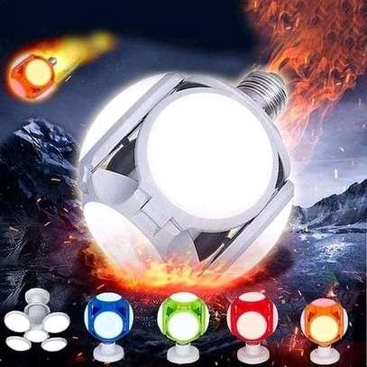 Five-leaves Foldable Football Shape UFO 120 LED Light Bulb for Home Indoor Use image 3