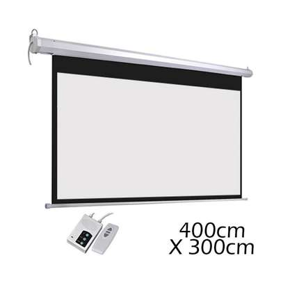 400cm by 300cm electric projector image 2