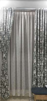Black and white curtains image 1