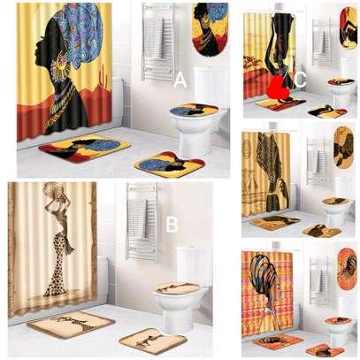 African themed bathroom mats image 1