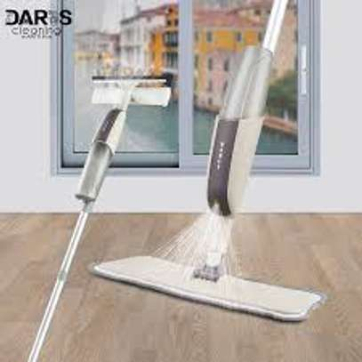 2 in 1 spray mop with scrubber image 1