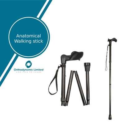 Anatomical Handle Walking Cane (Collapsible Ergonomic Walking Stick) image 1