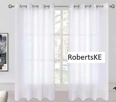White curtain sheers image 1