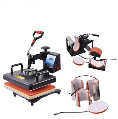 Combo Heat Press Machine Coffee Magic Mug Cup Cap Clothes T Shirt Printing Machine 8 1 Sublimation image 2