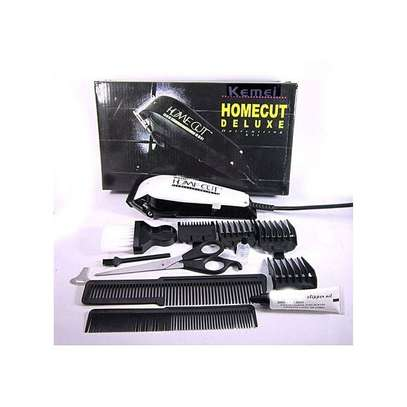 Kemei KM-8824 - Professional Electric Hair Clipper Hair Shaver - White & Black