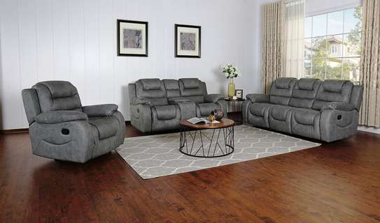 Athens Recliner 6 Seater Recliner in Gray image 1