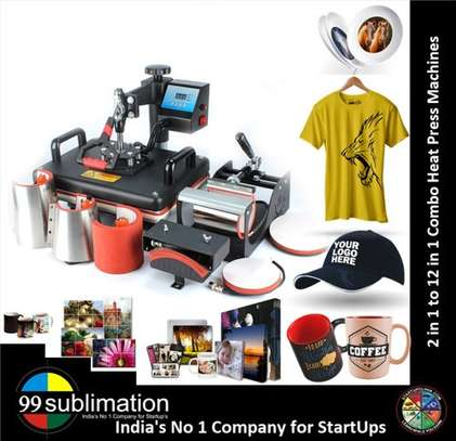 8 In 1 Heat Transfer Sublimation Machine / Heat Press Machine For Sheet / Cup / Lids / T-shirts Women / Phones image 1