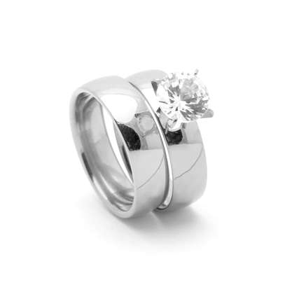 316L Stainless Steel Wedding/Engagement/Proposal/Anniversary Rings image 1