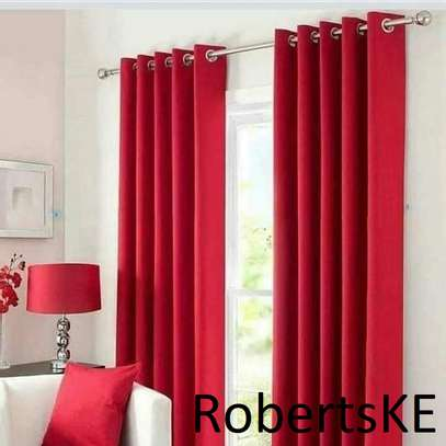 red polycotton curtain image 1