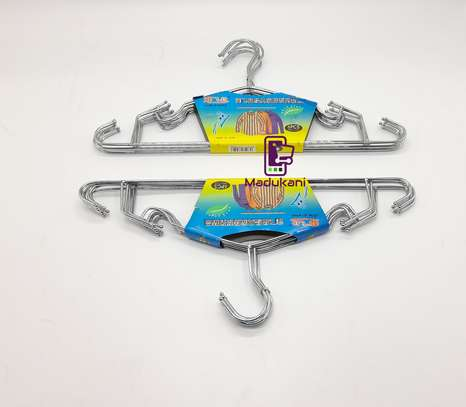 12pcs Stainless Chrome Plated Steel Heavy Duty All Purpose Clothes Hangers 16inch 42cm image 3